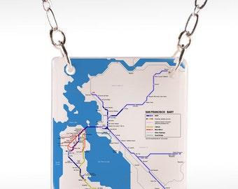 San Francisco Map Necklace