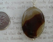 Beautiful Agate  and sterling Pendant