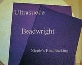 Ultrasuede with Nicoles BeadBacking Great Combo for Beading Soutache Purples