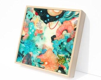Brio - Resin-Coated Print on Wood Panel