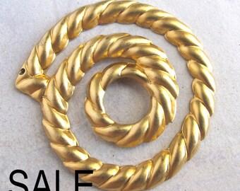 Brass Rope Pendants (4X) (V410) SALE - 33% off