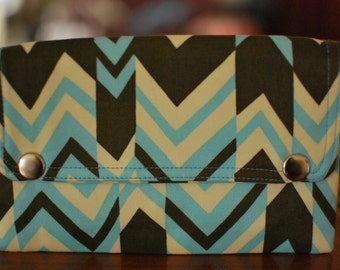 Double Snap Wallet - Chevron - ON SALE
