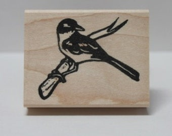 Island Scrub Jay rubber stamp