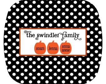 Personalized Pumpkin Family Halloween Melamine Platter