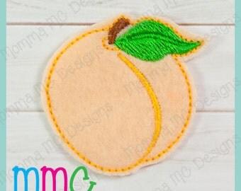 Peach Felt Feltie Embroidery Design