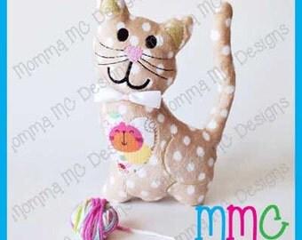 Kitten Softie Machine Embroidery File