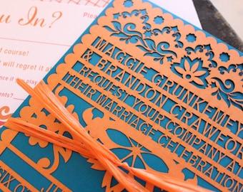 Papel Picado Custom Wedding Invitation - Design Fee