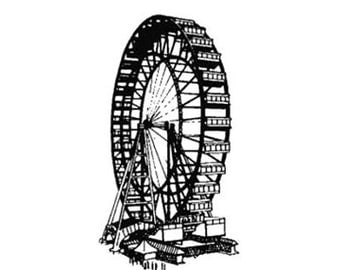 Ferris Wheel rubber stamp