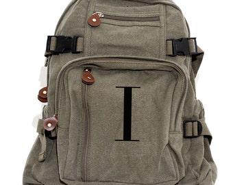 Backpack, Monogram Backpack, Canvas Backpack, School Backpack, Personalized Diaper Backpack, Kids Backpack, Womens Backpack, Mens Backpack