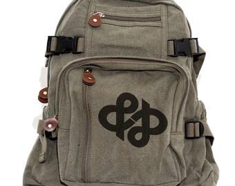 Ampersand Canvas Backpack, Rucksack, Travel, Typography Gifts, Small Backpack, Diaper Bag, Weekender Bag, Gift for Women, Gift for Sister
