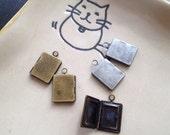 Mini Plain Book locket 10x13mm - Code 151.637