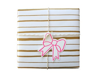 Festive Letterpress Tags - Set of 10
