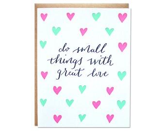 Great Love Letterpress Card