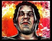 "Print 8x10"" - Andre the Giant - Wrestling French Wrester Hulk Hogan The Princess Bride Pop Art Huge Large WWF Vintage 70s 80s 90s Paris"