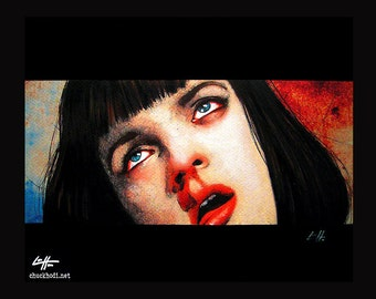 "Print 11x14"" - Girl you'll be a women soon - Pulp Fiction Mia Wallace Quentin Tarantino Heroin Drugs Overdose 90s Gund Uma Thurman Pop Art"