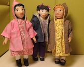 Pattern for Little MO Dolls - No.107 - Hooded Jackets & Capes