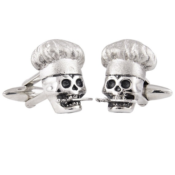 Cook Free or Die Cufflinks, Sterling Silver