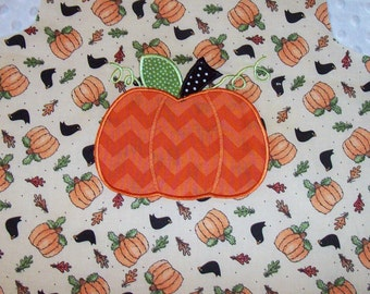 A-Line Dress with Chevron Pumpkin Applique Monogram LIMITED QUANITY Halloween Fall Thanksgiving Holiday