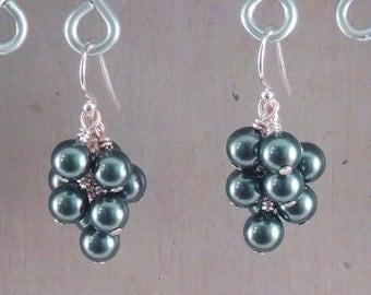 Swarovski Tahitian Crystal Pearl Cluster Earrings