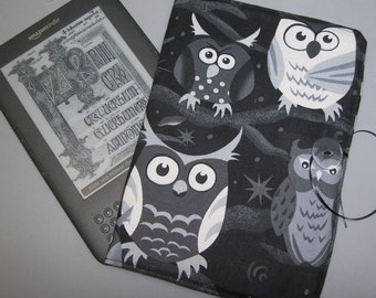 Kindle  Nook EReader Case Nite Owls Fabric