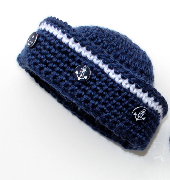Crochet Sailor Hat Pattern Nautical Baby Boy Baby Girl