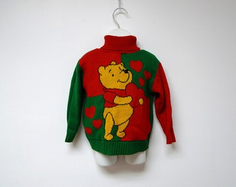 LOVE from WINNIE the POOH . vintage turtleneck sweater . Size 3 toddler