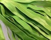 Fold Over ELASTIC - 5/8 Inch X 1 Yard - Apple Green Solid