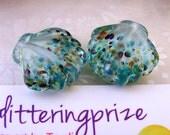 Lampwork Glass Beads Woodstock Shell