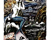 Dame Darcy, Meat Cake, Voyage Of Temptress, Hand Painted, Print, Limited edition, Comix, fine art,