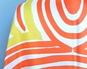 Rising Phoenix - a vintage 1970's Vera Neumann Optical Art scarf