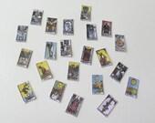 Dollhouse Miniature Major Tarot Cards 1:12 scale - Printable Digital