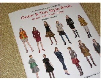 Japanese  Craft Sewing Pattern Book Outer and Top Style Book