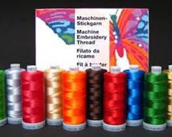 Madeira Polyneon 40 Thread 1100 yards-Solid Colors Only. 5 Spool minimum.   FREE First Class mail shipping.