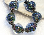 Lampwork Sparticle Art Beads by Jeanniesbeads 3020