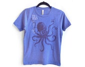 Ninja Octopus Blue Hether Boy's T shirts