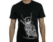 Zentangle Samurai Owl Men's T shirts