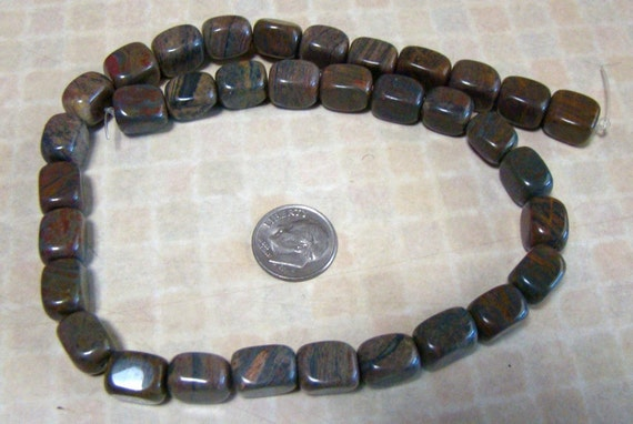 Pietersite Smooth Rectangle Nuggets LAST STRAND
