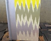 Small Journal - Lined with Yellow, Green, Silver and Taupe Zig Zags