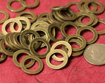 Antique brass thick washer link connector O ring size 14mm outside diameter 16g (1.3mm) thick, 20 pcs (item ID YDAB1487)
