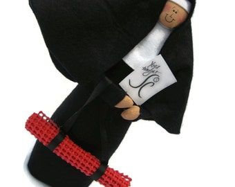 Novelty Nun doll, funny  religious gift, Yoga Lover's Gift, Spiritual Home Decor, Christan Cloth Doll, Fun Religious Decor