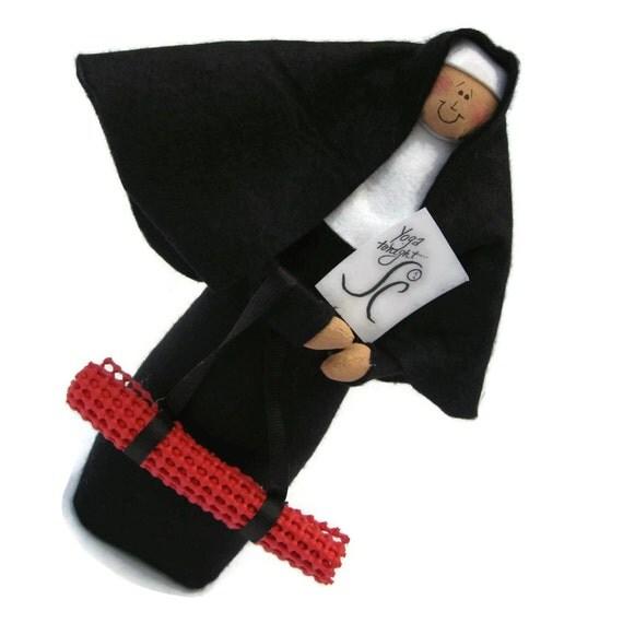 "Nun doll Catholic gift -yoga ""sister"", Sister Maddie Tate"