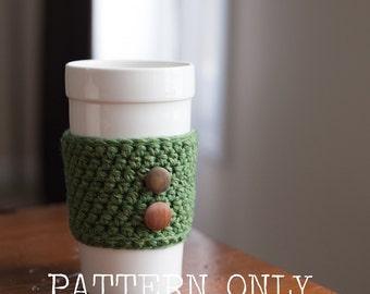 PATTERN:  Coffee Cozy Crochet Pattern Easy Pattern Digital Download