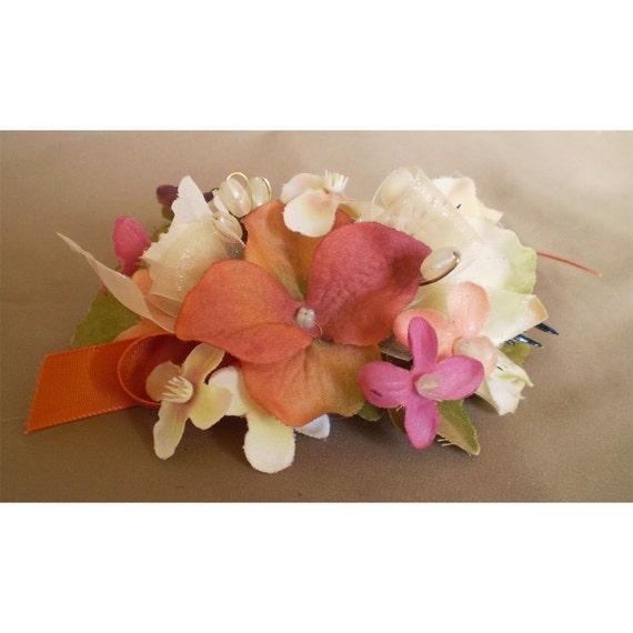 Floral barrette women's fashion accessory hair flowers bridal wedding flowers
