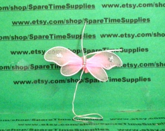 "Fibre Craft - 7988PNK - Nylon Butterfly - 2 1/4"" - pink - 2 pcs"