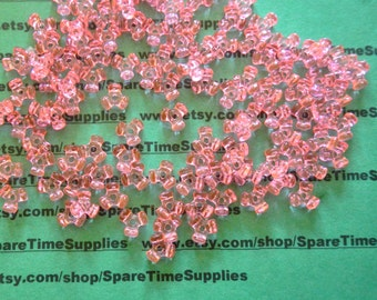 Darice - 06102-1-T16 Tri Beads-  transparent pink - 11mm - 220 pcs