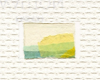 Minimalist Textured Art // ooak /  greeting card 6 / gelatin print