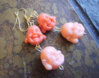 Laugh a Lot Buddha Resin Beaded Dangle earrings