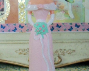 Vintage / Cake Topper / One Female Figure / Bridesmaid