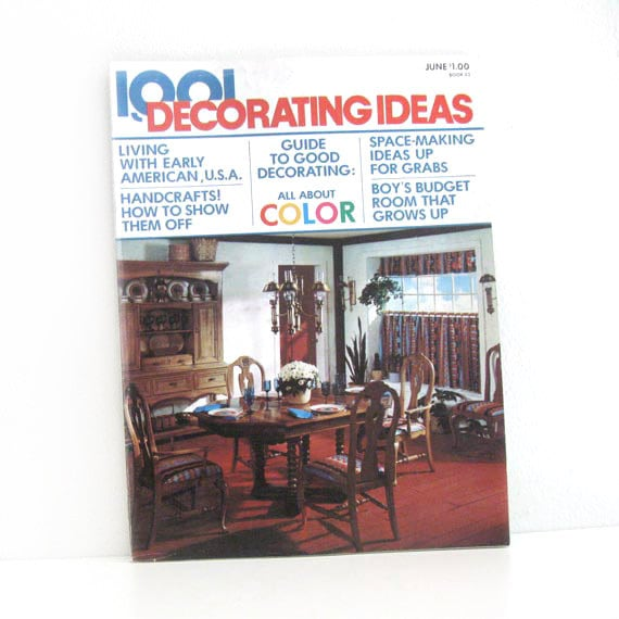 Vintage 1970s home decor magazine 1001 decorating by for Home decor 1970s