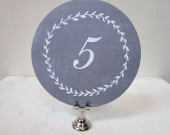 Wedding Table Number - Chalkboard Table Number Card -  Round Table Number - Rustic Table Numbers -  Blackboard Wedding Numbers
